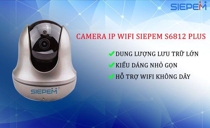 Camera IP Wifi Robo SIEPEM S6812 Plus (2.0 FullHD)
