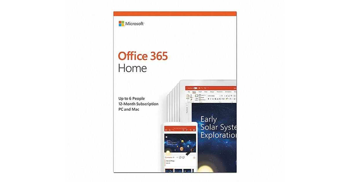 Office 365 Home English APAC EM Subscr 1YR Medialess P4:6GQ-00968