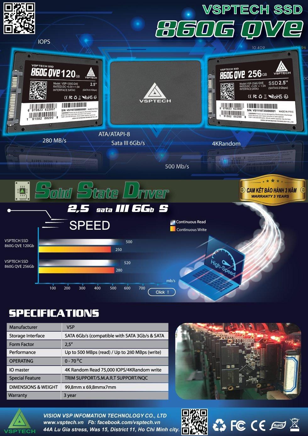 SSD 128G VSPTECH 860G QVE