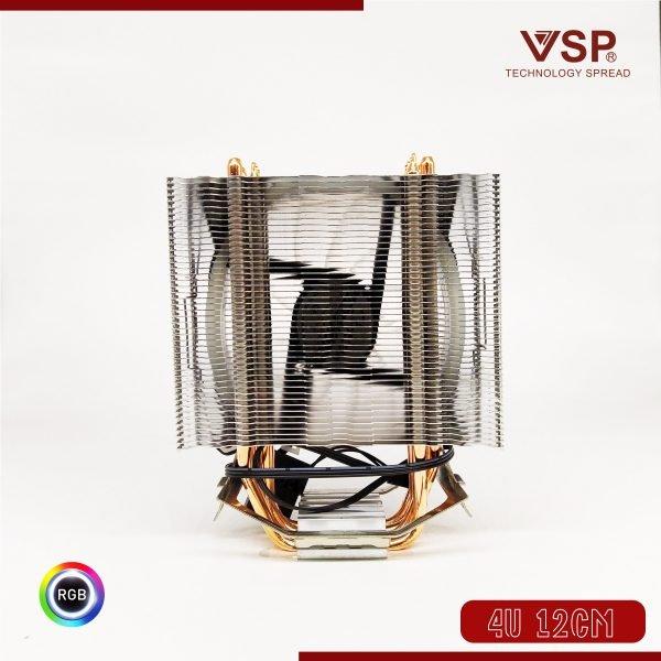 Tản nhiệt khí CPU 4 ống đồng VSP T400i 1 fan 12cm Đa năng