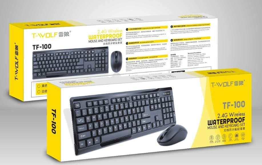 Combo ko dây Keyboard + Mouse T-WOLF TF-100