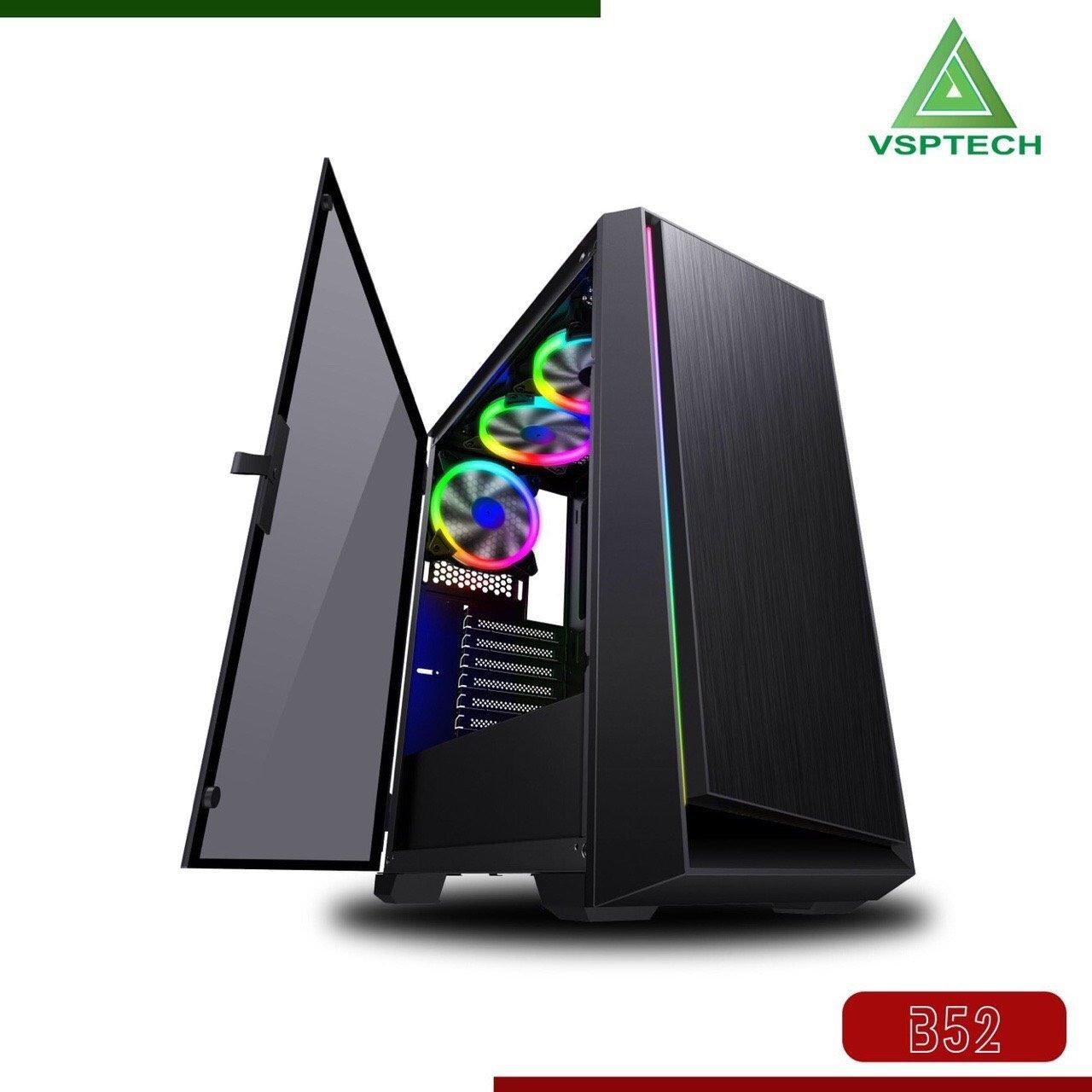 Case VSP B52 Server LED RGB Kính cường lực