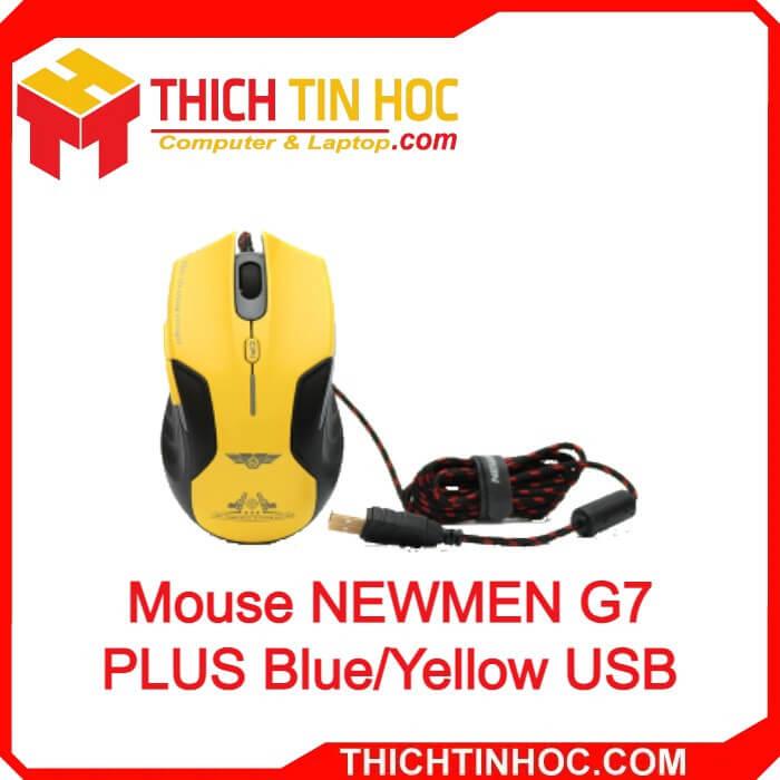 Mouse Newmen G7 Plus Blue Yellow Usb