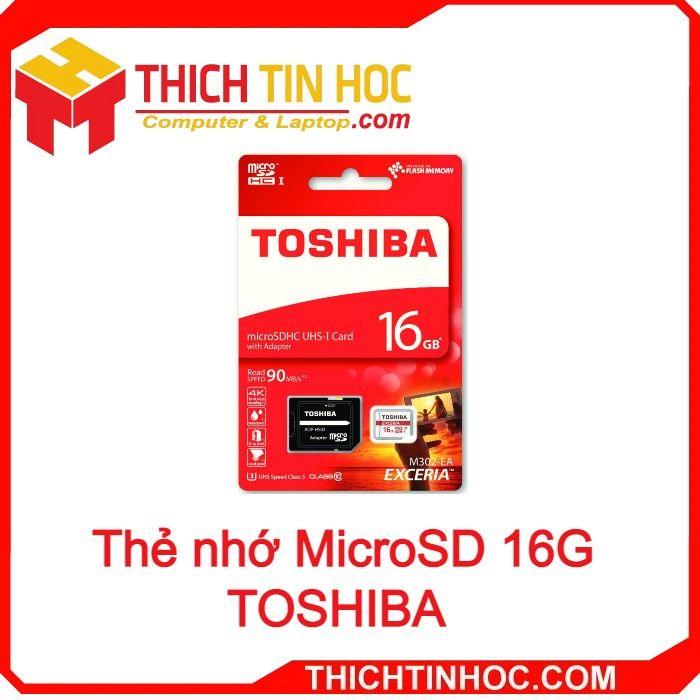 Thẻ Nhớ Microsd 16g Toshiba Box Class10 90mb S