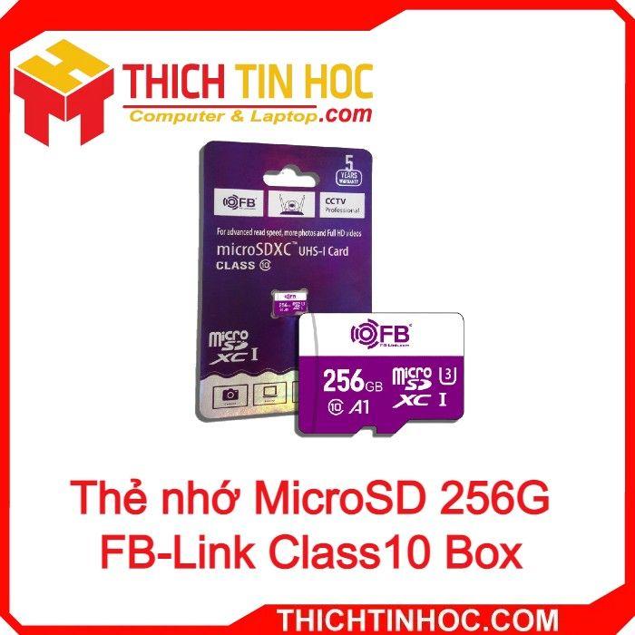 Thẻ Nhớ Microsd 256g Fb Link Class10 Box