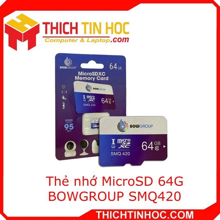 Thẻ Nhớ Microsd 64g Bowgroup Smq420