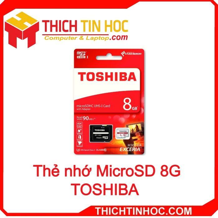 Thẻ Nhớ Microsd 8g Toshiba Box Class10 90mb S
